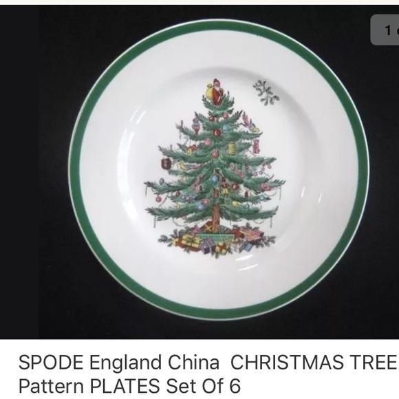 England Christmas Tree.Spode England Christmas Tree Plates Set Of 6